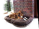 Лежак Comfy Arnold L двусторонний коричнево-бежевый, 70x55 см, фото 2