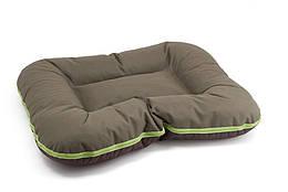 Лежак Comfy Arnold L двусторонний коричнево-оливковый, 70x55 см