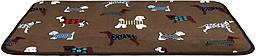 Коврик Trixie FunDogs Lying Mat плюшевый, коричневый с принтом, 90х68 см