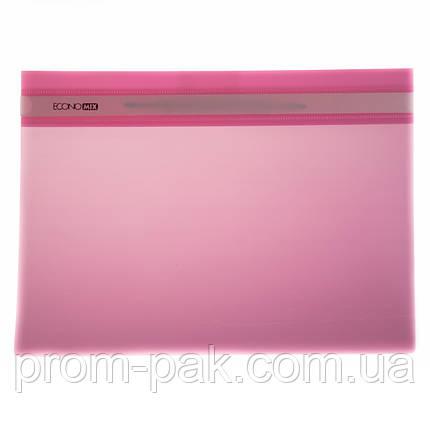 Скоросшиватель пластиковый а4 Economix  31511-09 розовый, фото 2