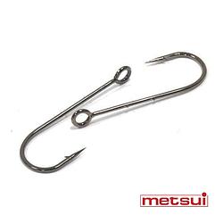 Крючки metsui RING ROUND BARBED цвет bln, размер № 8, в уп. 12 шт.