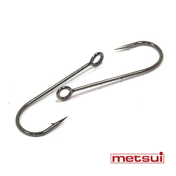 Крючки metsui RING ROUND BARBED цвет bln, размер № 6, в уп. 12 шт.