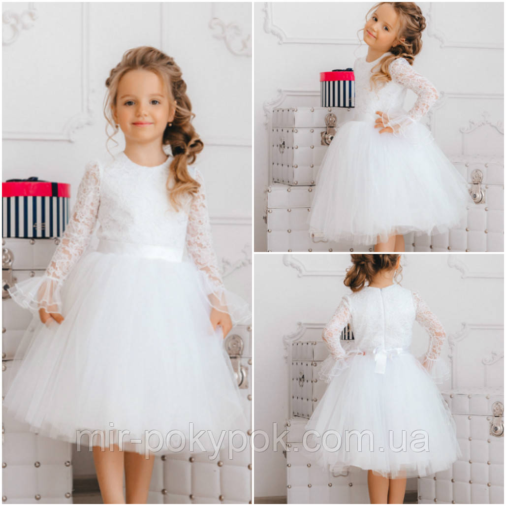 4b87f33a9df37e5 Нарядное белое платье для девочки NP 4: продажа, цена в Харькове ...