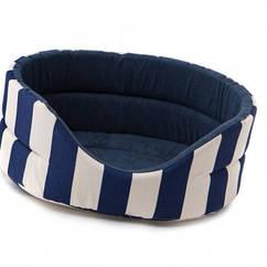 Лежак Comfy Marina S синий, 46x42x18 см