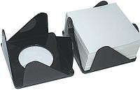 Підставка під папір для нотаток Economix, 80x80х45 мм, пластик, чорний (E83051)