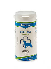 Кормовая добавка Canina Fell O.K для собак с биином, здоровье кожи и шерсти, 125 шт
