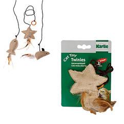 Игрушка Karlie-Flamingo Twinies With Feather для кошек с кошачьей мятой, 10 см