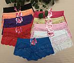 Женские трусы шортики цветные 48-52 полубатальные , фото 2