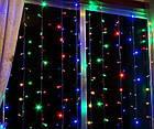 Гирлянда Штора LED 360, мультиколор, фото 5