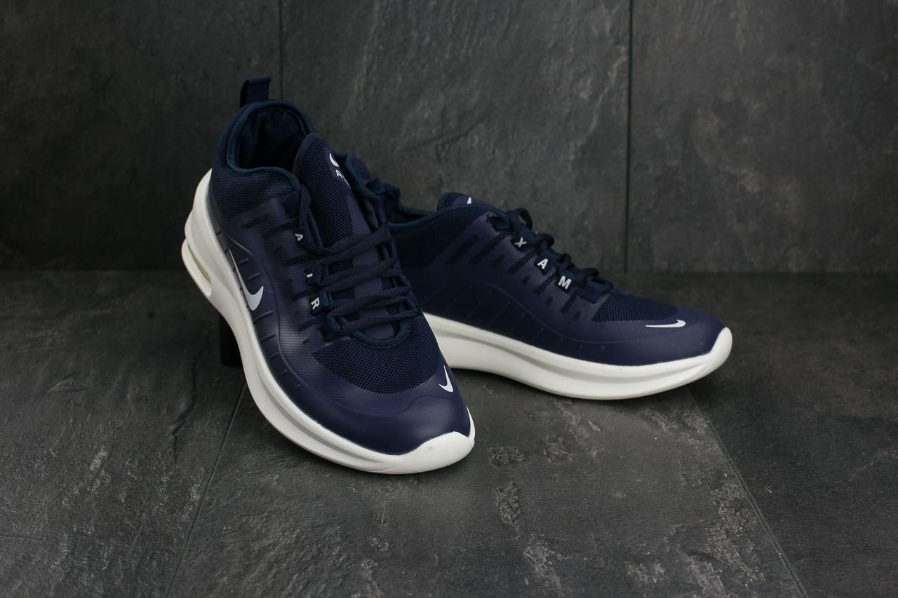 Мужские демисезонные кроссовки Nike Air Max сине-белые топ реплика