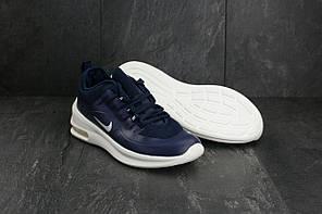 Мужские демисезонные кроссовки Nike Air Max сине-белые топ реплика, фото 3