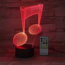 3D Светильник нота, фото 4