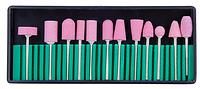 Фрезы корундовые керамические для маникюра и педикюра, набор 12 шт