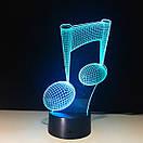 3D Светильник нота, фото 2