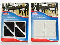 Подложки защитные фетровые для мебели 4.5х4.5х6 см 4 шт./уп.