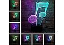 3D Светильник нота, фото 3