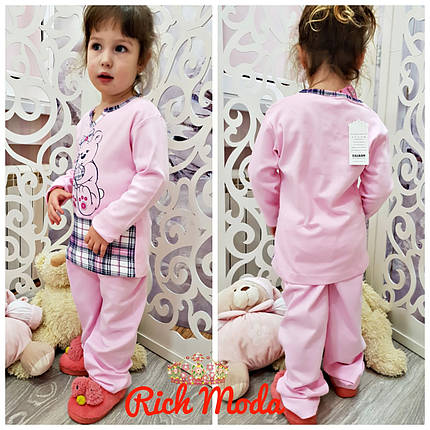 Пижама детская коттоновая Мишка. От 4х до 12 лет. Турция! , фото 2