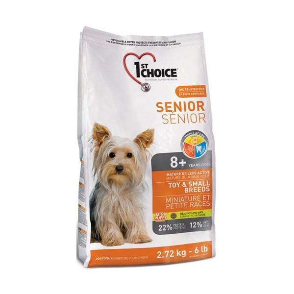 Сухой корм для пожилых собак 1st Choice Senior Toy and Small breed мелких пород 2,72 кг