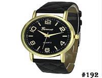 Женские кварцевые наручные часы / годинник Geneva чёрного цвета (192)
