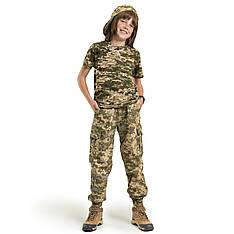 Детские брюки Скаут камуфляж Пиксель