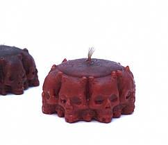 Восковая свеча Круг из черепов