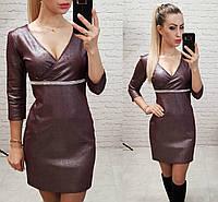 Платье женское, замша, модель 145, в 7-ми расцветках