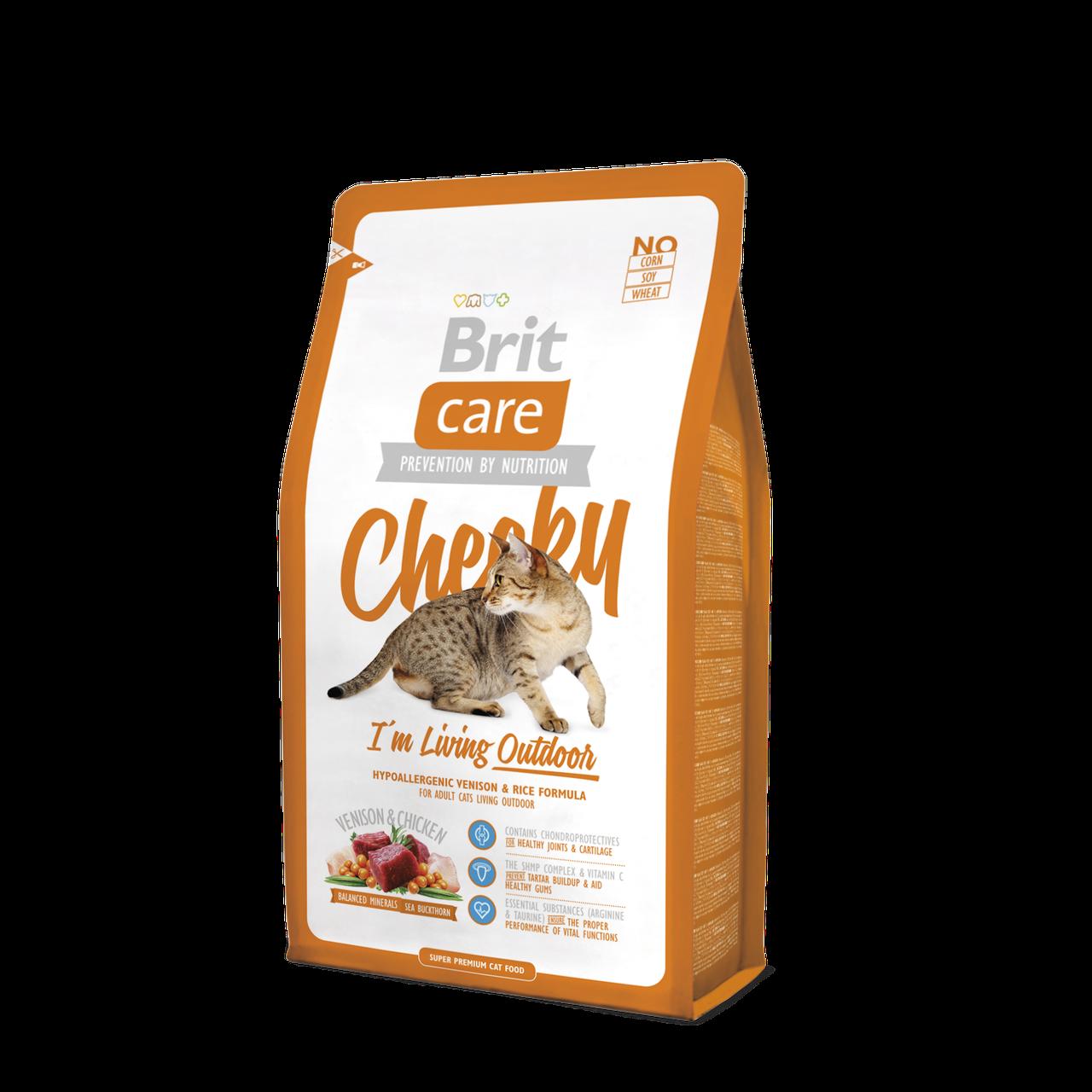 Brit Care Cheeky I am Living Outdoor корм для кошек выходящих на улицу, 7 кг