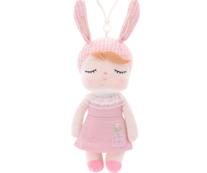 Игрушка-брелок мягкая игрушка зайка Metoo в розовом