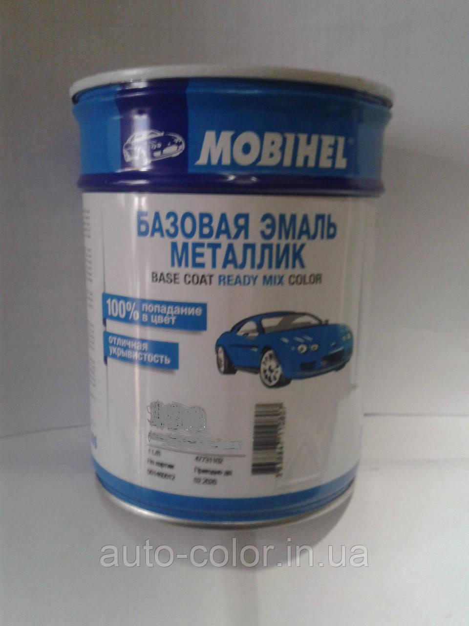 Автоэмаль базовая металлик Mobihel  190 Калифорнийский мак  1л
