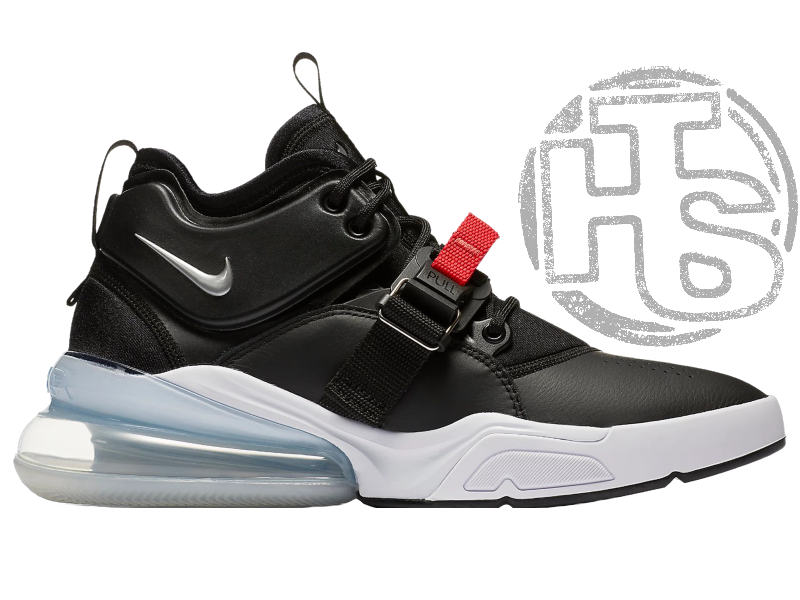Мужские кроссовки Nike Air Force 270 Black/Chrome White University Red AH6772-001