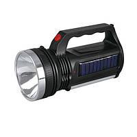 Фонарь аккумуляторный с солнечной батареей Yajia 2836 T 1W sp2516, КОД: 110549