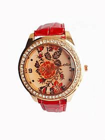 Часы кварцевые Вышиванка Красный, КОД: 111934