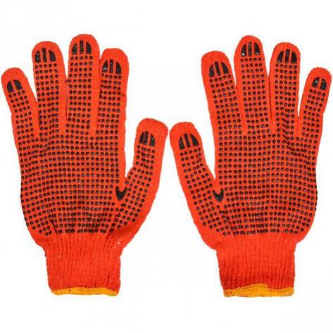 Перчатки рабочие оранжевые с точкой 58403, фото 2