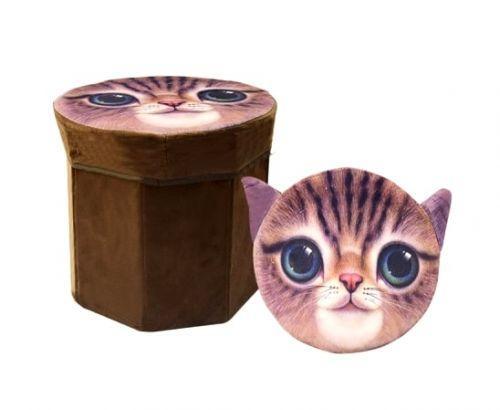 """Корзина-пуфик для игрушек """"Кот"""""""