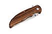 Нож складной для походов, охоты и экстремальных ситуаций. Сталь 8Cr13MoV.  Рукоять деревянная, фото 5