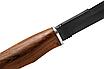 """Нож охотничий для экстрима и охоты """"Тайга-1"""" (315мм) Сталь 440С, черное покрытие. Рукоять-дерево., фото 3"""