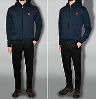 """Трикотажний спортивний костюм дуже теплий колір """"чорно-синій"""" тканина Турція"""