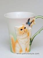 Фарфоровая кружка Персидский кот (Pavone) 300 мл