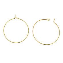Металлическое кольцо соединительное разъемное один виток 30 мм золото для рукоделия