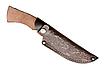 Нож охотничий для для охоты рыбалки для разделки рыбы и туш.  Ручная работа. Ножны-кожа говяжья, фото 6