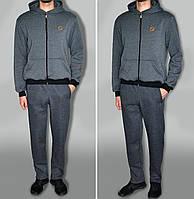 """Трикотажний спортивний костюм дуже теплий, колір """"антрацит"""" темно-сірий тканина туреччина"""