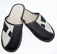 Домашние мужские кожаные тапочки, 44  размер