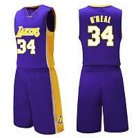 e63c9147 Форма Фиолетовая ONEAL №34(майка+шорты) Los Angeles Lakers — в ...