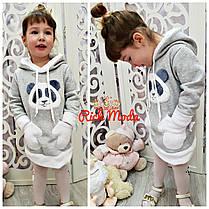 Детская тёплая туника для настоящих модниц! От 1 до 6лет, фото 3