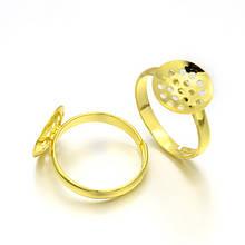 Металлическое кольцо основа для плетения 18мм для рукоделия цвет золото
