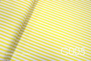 Ткань сатин Полоска желтая 10 мм ОСТАТОК 100*80