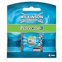 Сменные кассеты для бритья Wilkinson Sword Protector 3 - 4 шт 1015, КОД: 163124