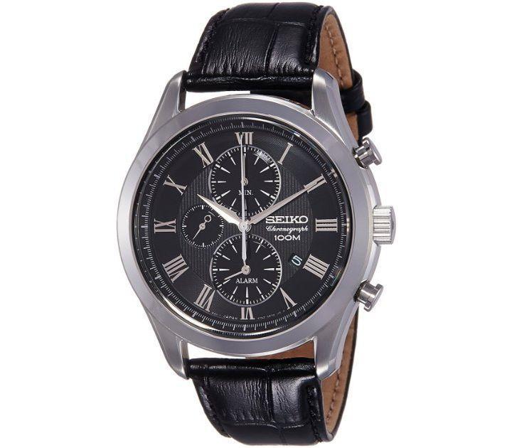 Часы Seiko SNAF71P1 хронограф Quartz 7T62