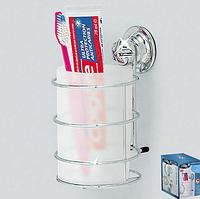 Стакан для зубных щеток и пасты на вакуумной присоске Еверлок