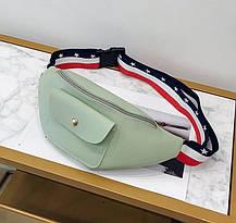Поясная сумка бананка с красочным поясом, фото 2